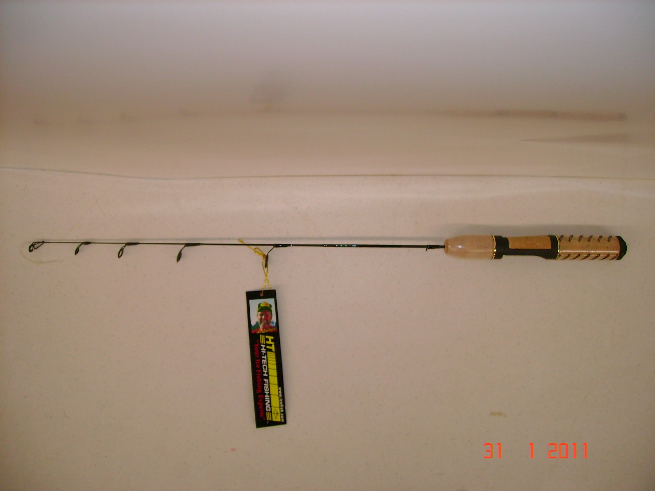 Ht 5 eye cork handle ice rod ice fishing rods reels for Ht ice fishing