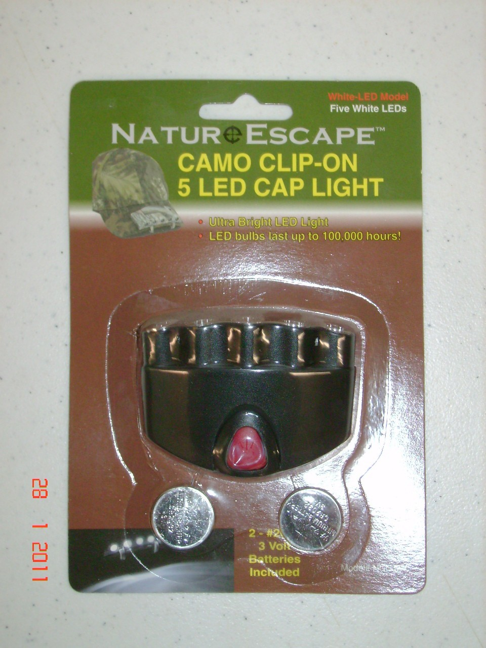 Nature Escape Cap/Hat Light