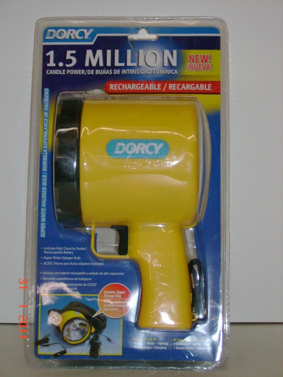 Dorcy 1.5 Million Rechargeable Spot Light