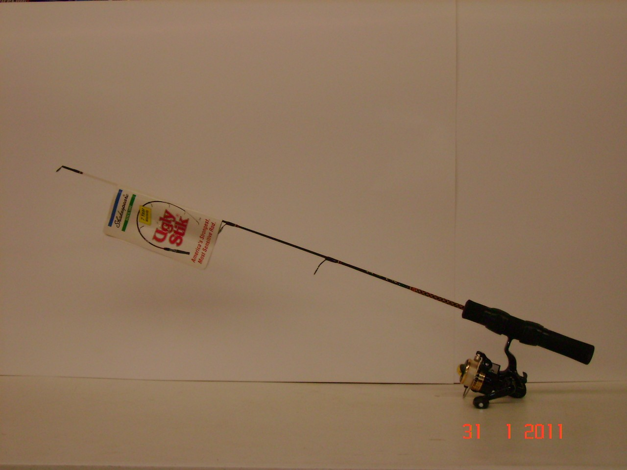 Ugly stik ice rod optimax 101 reel ice fishing rods for Ugly stick fishing rods