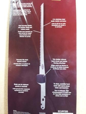 "Berkley Slim 8"" Replacement Fillet Knife Blade (Will work in Mister Twister,  American Angler & Most Electric Knifes)"