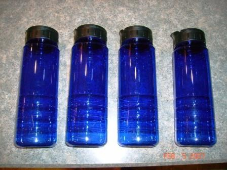 4-Pack Blue Water Bottles