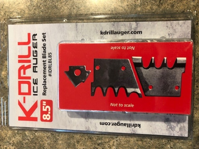 """K-DRILL Ice Drill 8.5"""" Auger Replacement Blade Kit IDRLBL85"""