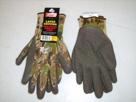 Latex Palm Coated Gripping Camo Glove