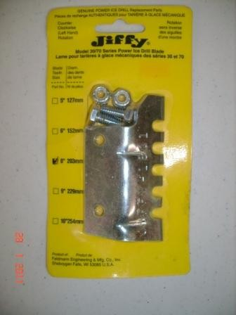 "Jiffy Model 30/70 Series Power Drill Replacement Blades (LH) 8""."