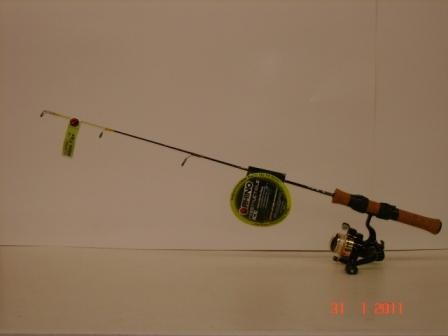 Rhino ice rod optimax 103a reel ice fishing rods for Rhino fishing pole