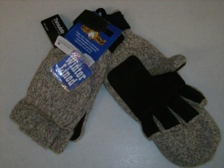 Thinsulate Lined Rag Wool Mitt-Pullover Gloves