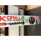 """K-DRILL Ice Drill 7.5"""" Auger Assembly IDRL75  For Ice Fishing USA Made"""