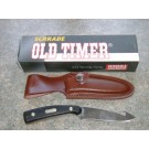 Schrade Old Timer 1580OT Guthook Skinner Knife with Sheath
